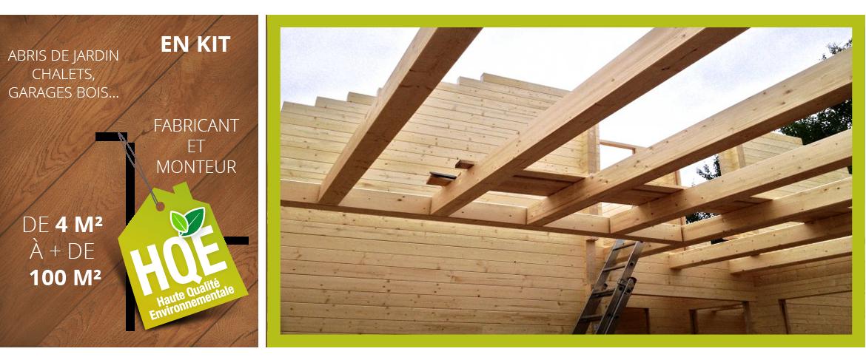 Construction de maison à ossature bois et chalet bois habitable dans le Puy d
